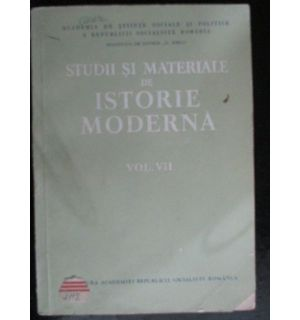 Studii si materiale de istorie moderna vol.7