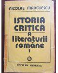 Istoria critica a literaturii romane vol.1-Nicolae Manolescu